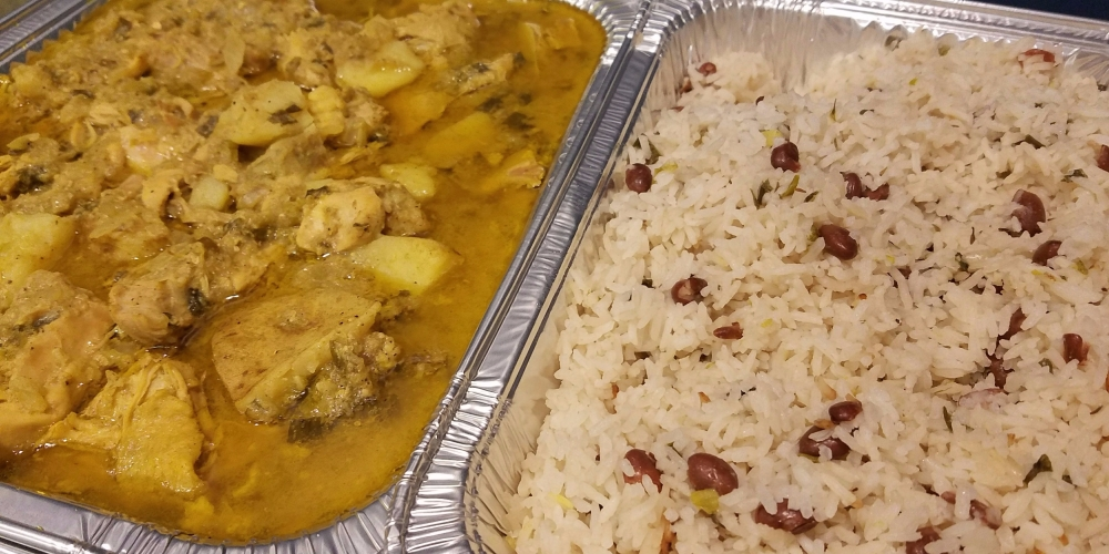 Jamaican Style Curry Chicken with Rice N Peas